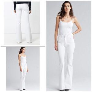 MICHAEL KORS High Waist Flare Leg White Jeans NEW
